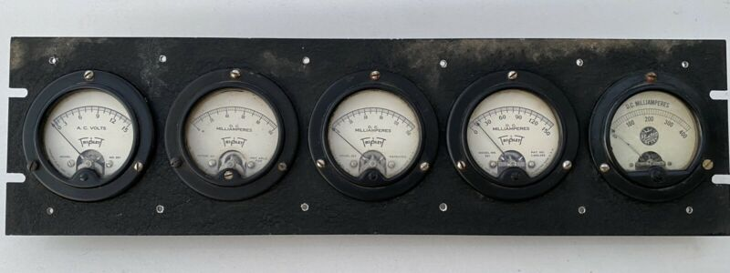 Vintage Triplett Electric Meter Gauges Old Gauge Cluster Panel Steampunk Art