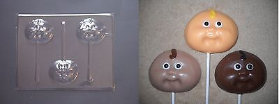 Cabbage Patch Face Baby Shower Lollipop Chocolate Candy Soap Crayon Mold (Shower Crayons)