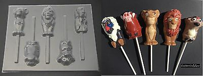 LION KING Simba Mufasa Pumbaa Timon Rafiki Chocolate Candy Lollipop Soap Mold