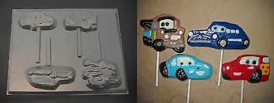 Cars McQueen Lollipop Chocolate Candy Soap Crayon - Chocolate Cars