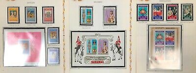 Lot of British Commonwealth QE II 25th Coronation Issue 1953-1978 MNH
