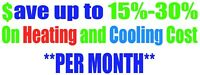 Save 15-30% On Your Heating And Cooling Free Estimates!!
