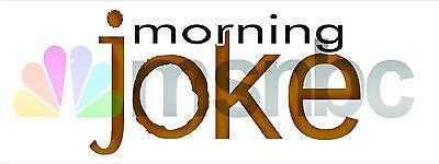 Morning Joke   Msnbc   Fake News Bumper Sticker Decal