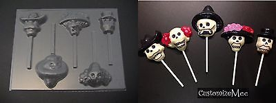 olate Sugar Skull Candy Soap MOLD (Skull Candy Molds)