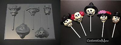 DAY OF THE DEAD Chocolate Sugar Skull Candy Soap MOLD (Sugar Skull Molds)