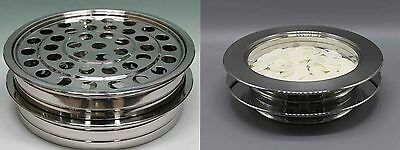 2 Stainless Steel Communion Trays  And 2 Bread Trays  Brand New