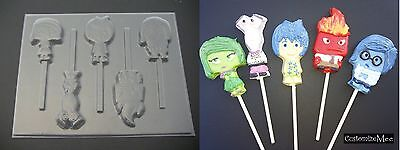 Inside Out Joy Sadness Anger Disgust Chocolate Candy Soap Mold