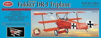 Guillow's Balsa Wood Flying Model Airplane Kit, Fokker DR-1 Triplane  GUI-204
