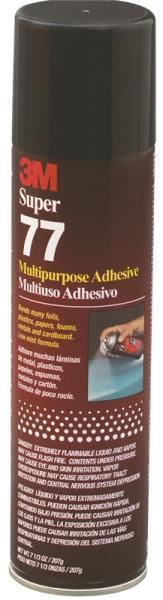 3M 77 Spray Adhesive  7 oz.  77-07 SPRAY ADHESIVE