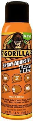 New Gorilla Glue 6301502 14oz Can Clear Spray Adhesive Heavy Duty 5122155