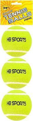PACCO 3 x PALLE DA TENNIS HB Sport Esterno Giochi cagnolino cani Fetch Giallo