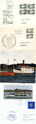 MS MICHAEL GERMAN FINNISH CRUISE SHIP 3 SHIPS CACHED COVERS & 2 COLOUR PICTURES