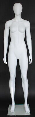 5 Ft 11 In Female Abstract Head Mannequin Matte White New Style Mannequin Sfw51e
