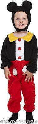 Mickey Maus Kostüm Jungen (Mädchen Jungen Kinder Kinder Mickey Maus büchertag Kostüm Kleid Outfit 3 Jahre)