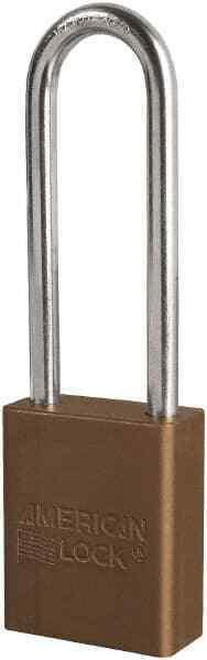 "American Lock Keyed Different Retaining Key Lockout Padlock 3"" Shackle Cleara..."