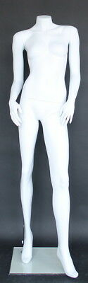 5 Ft 4 In H Female Headless Mannequin Matte White New Style Mannequin Stw117wt