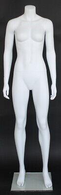 5 Ft 6 In Female Headless Mannequin Matte White Athletic Body Torso Stw101w-new