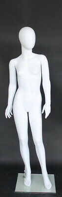 4 Ft 10 In Child Girl Abstract Egg Head Mannequin Torso Form Matte White Cf13ew