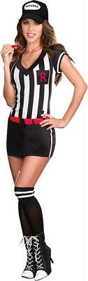 WOMENS SEXY OUT OF BOUNDS SPORTS REFEREE 5 PC COSTUME XL - Out Of Bounds Kostüm