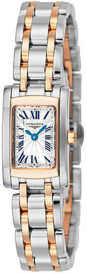 L5.158.5.71.7 | NEW AUTHENTIC LONGINES DOLCEVITA ROSE GOLD & STEEL WOMENS WATCH
