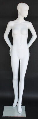 5 Ft 10 In Female Abstract Mannequin Matte White Feature Face Mannequin Sfw30e-w