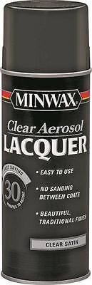 NEW MINWAX 15210 12 OZ SPRAY SATIN LACQUER CLEAR WOOD FINISH SEALER 4731857 Spray Wood Finish
