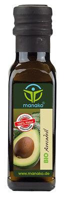 Lebensmittel Avocado-Öl (manako BIO Avocadoöl Avocado Öl kaltgepresst 100 ml kbA)
