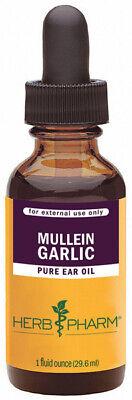 Herb Pharm Mullein Garlic Herbal Ear Drop Oil External Use Only -1 fl.oz./29.6ml Mullein Garlic Ear Oil
