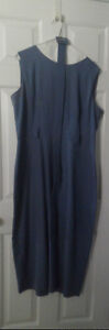 blue sleeveless belted dress size16