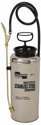 Chapin 3 Gal Garden Hand Sprayer Stainless Steel Tank Wide Mouth Reinforced...