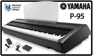 yamaha p95 digital piano keyboard w foot pedal new p 95. Black Bedroom Furniture Sets. Home Design Ideas