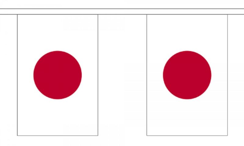 Japan Polyester Flag Bunting - 6m long with 20 Flags