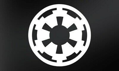 Imperial Logo - Star Wars Vinyl Decal - 10cm - Pack of 2 Stickers
