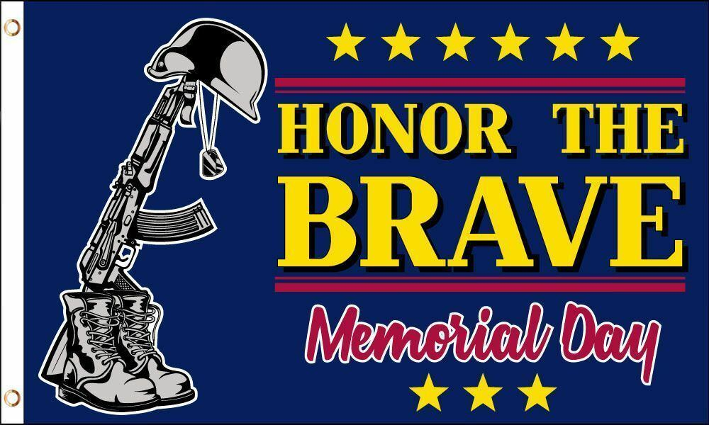 Memorial Day Flag 3x5 ft Honor the Brave Holiday Veterans Banner