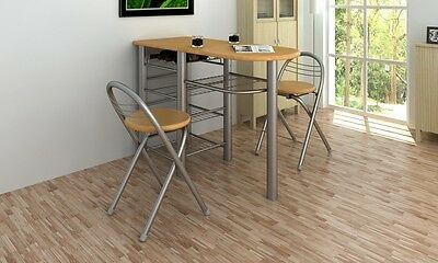 #bKitchen / Breakfast Bar / Table and Chairs Set Wood