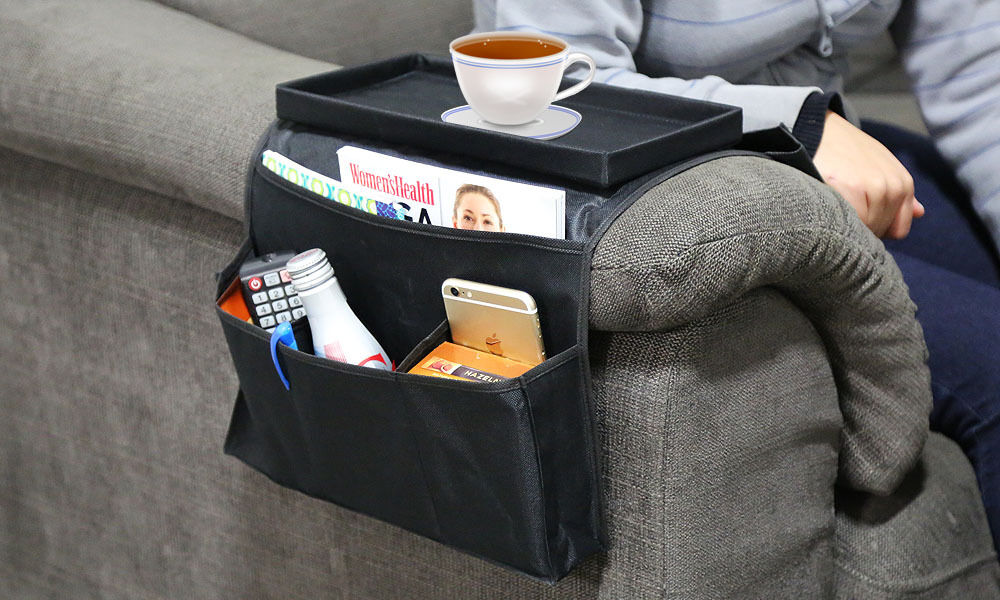 Sofa Arm Rest Organizer Remote Control Holder Caddy Couch Buddy Recliner Chair