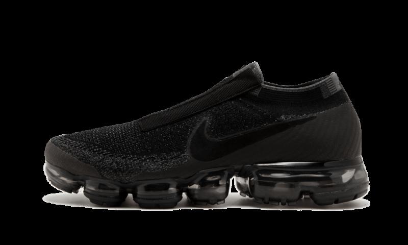 af63aafd1f0 Nike Air Max Vapormax Flyknit Laceless BLACK NIGHT TRIPLE GREY AQ0581-001  11.5