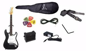 Electric Guitar Package with 5W Amp, Gig bag, 9V adaptor, guitar cable, strap and 5 picks Brand New iMEG272 elec guitar