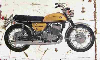 Suzuki T500 Titan 1970 Aged Vintage Photo Print A4 Retro poster