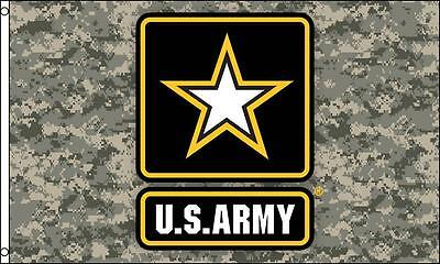 CAMO US ARMY STAR 3 X 5  FLAG banner FL720 GUN MILITARY camouflage usarmy NEW