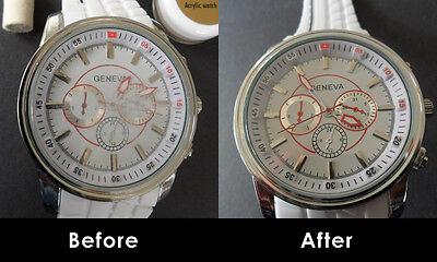 Watch Glass Scratch Remover, Polishing Kit, Acrylic, Plastic, Sapphire Crystal Glass Polishing Kit