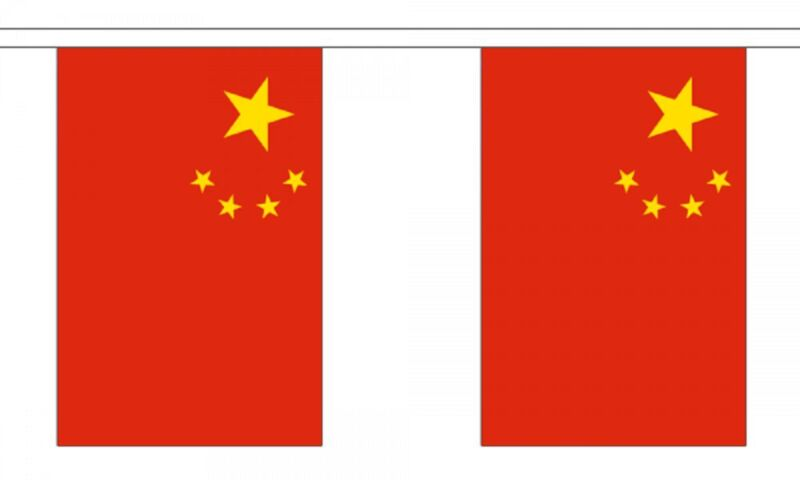 China Flag Bunting - 3m 6m 9m Metre Length 10 20 30 Flags - Chinese