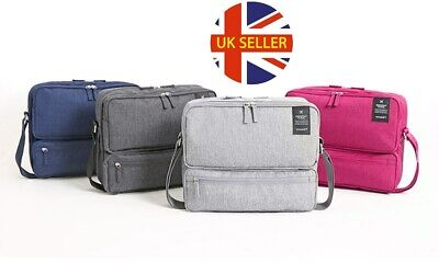 Unisex Handy Smart Multi Pocket Carry On Travel Bag Hand Luggage Shoulder Strap