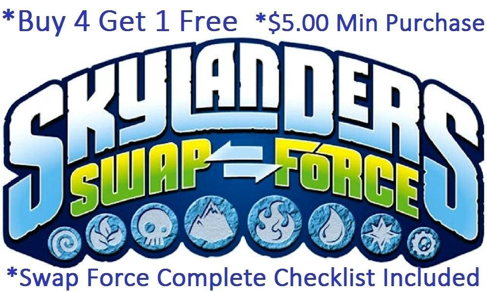 Skylanders Swap Force Complete Your Set with Checklist* Wii U PS4 Xbox 360 One👾