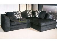 *14-DAY MONEY BACK GUARANTEE!** Brittany Chenille Fabric Corner Sofa or 3 and 2 Sofa Set - SAME DAY!