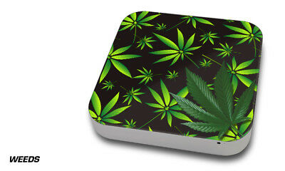 Skin Decal Wrap for Apple Mac Mini Desktop Computer Graphic Protector WEEDS BLK for sale  Shipping to India