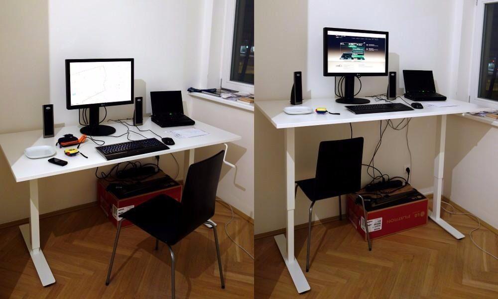 Large Ikea Skarsta Sitting Standing Desk In Sheffield