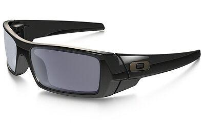 Neu Oakley Gascan Sonnenbrille Poliert Schwarz/Grau Gläser, 03-471
