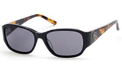 ee1f2d6779 NWT GUESS Sunglasses GU 7436 01A Shiny Black Havana   Gray 56 mm GU7436 NIB