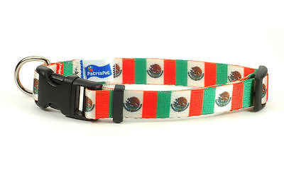 Mexico Mexican flag Dog Pet Collar by PatriaPet for Small Medium Large Dogs